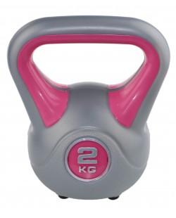 Kettlebell Fit 2 kg marki SVELTUS, różowy/szary