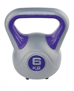 Kettlebell Fit 6 kg marki SVELTUS, fioletowy/szary