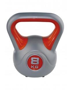 Kettlebell Fit 8 kg marki SVELTUS, pomarańczowy/szary