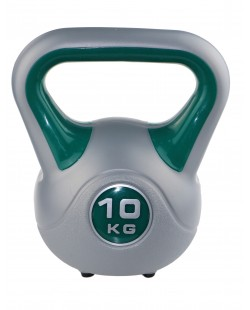 Kettlebell Fit 10 kg SVELTUS, zielony/szary