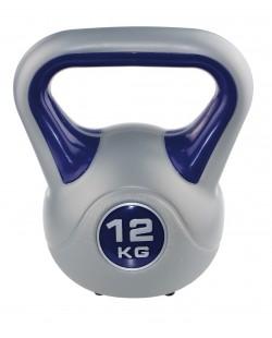 Kettlebell Fit 12 kg SVELTUS, śliwkowy/szary