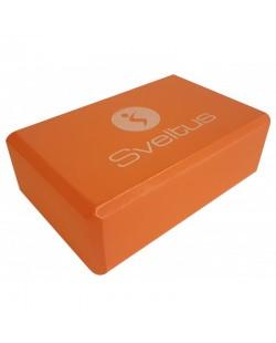 Kostka klocek do jogi pomarańczowy, Sveltus