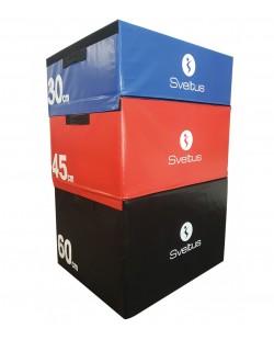 Zestaw skrzyń Plyo Box do ćwiczeń 30/45/60 cm