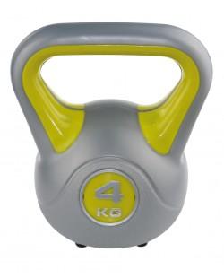 Kettlebell Fit 4 kg SVELTUS, żółty/szary