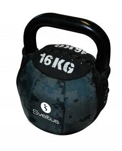 Soft Kettlebell 16 kg SVELTUS, moro zielony/szary
